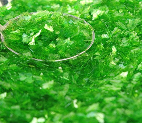 - Green Lime Authentic Imported German Super Shard Crystals Glass Glitter - Largest Grain Size - 311-C4-109