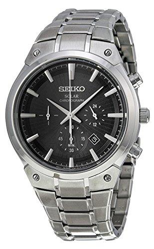 (Seiko Men's SSC317 Analog Display Analog Quartz Silver Watch)
