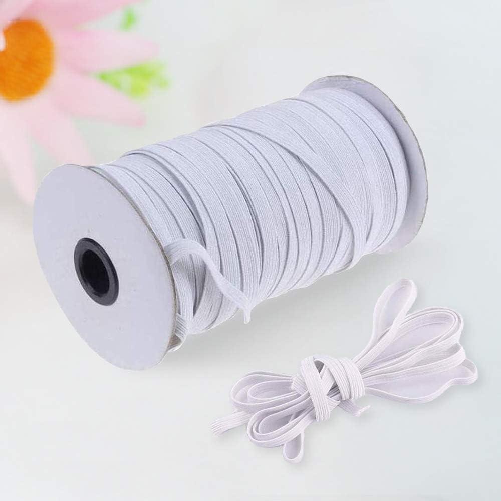 Bedspread Yoophane Braided Elastic Band 100 Yards Length 1//4 Width Elastic Rope//Elastic Cord//Bungee//Heavy Stretch High Elasticity Knit Elastic Spool for Sewing Crafts DIY Cuff 100yd,6mm,White