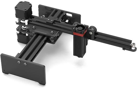 Imagen deKKmoon 20W Máquina de Grabado,Mini DIY Grabador Windows/iOS/Android,Máquina de Grabado en Voladizo,Máquina de Grabado de Escritorio,Grabado en Metal/Madera y Corte Rápido