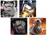 Star Wars Durable Melamine Plate Set (BB-8, Stormtrooper, Kylo Ren) Set of 4