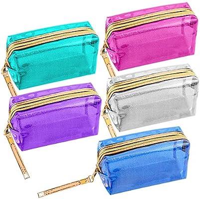 Paquete de 5 bolsas de cosméticos transparentes e ...