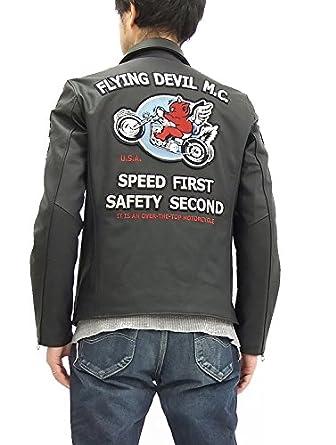Matte black leather motorcycle jacket
