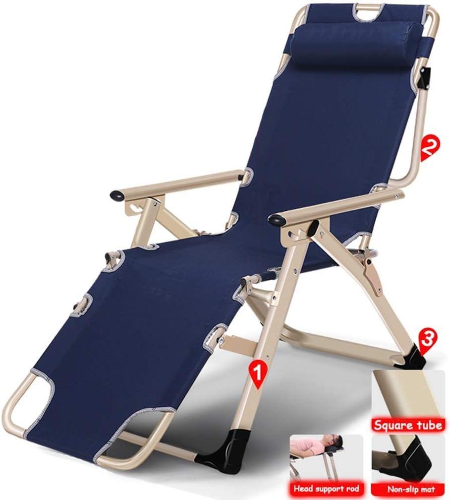 リクライニングチェアパティオ重力椅子屋外調節可能な折りたたみロックラウンジチェアキャンプベッドシングルオフィスシエスタベッドオックスフォード布