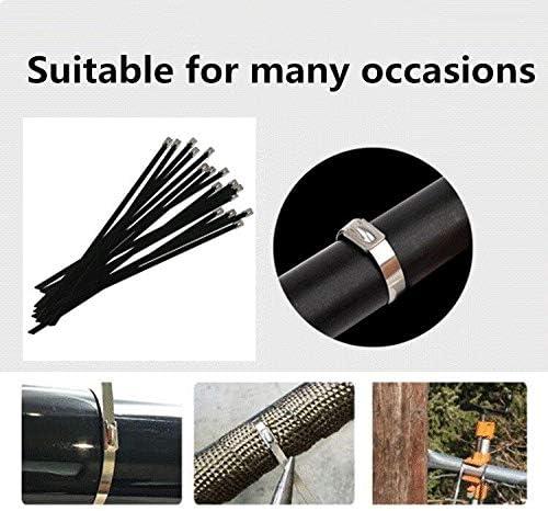 YUE QIN Bridas de Cables de Acero Inoxidable de Alta Calidad Acero de Cable de Acero Autoblocante Facilita la Instalaci/ón R/ápida