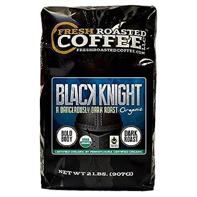 Fresh Roasted Coffee LLC, Black Knight Organic Coffee, Dark Roast, Fair Trade, USDA Organic, Whole Bean, 2 Pound Bag