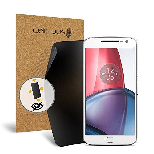 Celicious Privacy Plus Motorola Moto G4 Plus 4-Way Visual Black Out Screen Protector