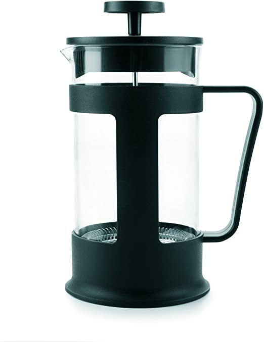 Ibili 623706 - Cafetera de embolo, plástico, negro, 14 x 10 x 19 ...