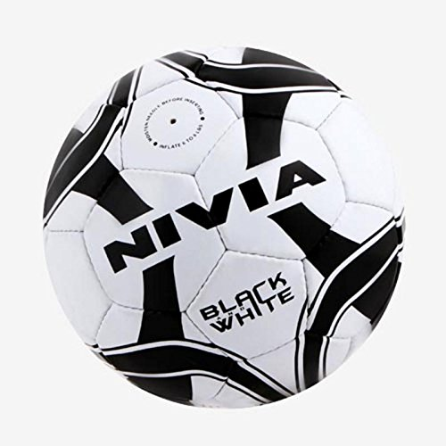 Nivia Fb 278 Black and White Football Size 5