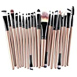 Start 25 pcs gold 2 + 25 Pcs black Makeup Brush Set tools Make-up Wool Kit