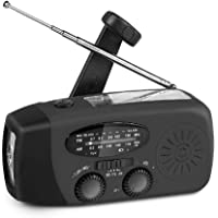 Portable Solar Emergency Weather Radio 2021 Newest Upgrade Hand Crank AM/FM NOAA Survival Radios with 2000mAh Power Bank…