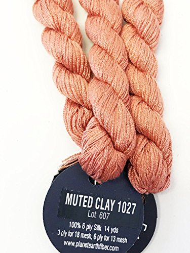 PLANET EARTH FIBER-6ply-100% SILK-COLOR-1027-MUTED CLAY-THIS LISTING IS FOR 2 SKEINS