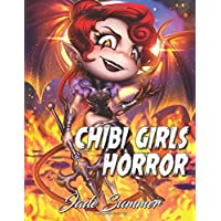 Chibi Girls Horror: An Adult Coloring Book with