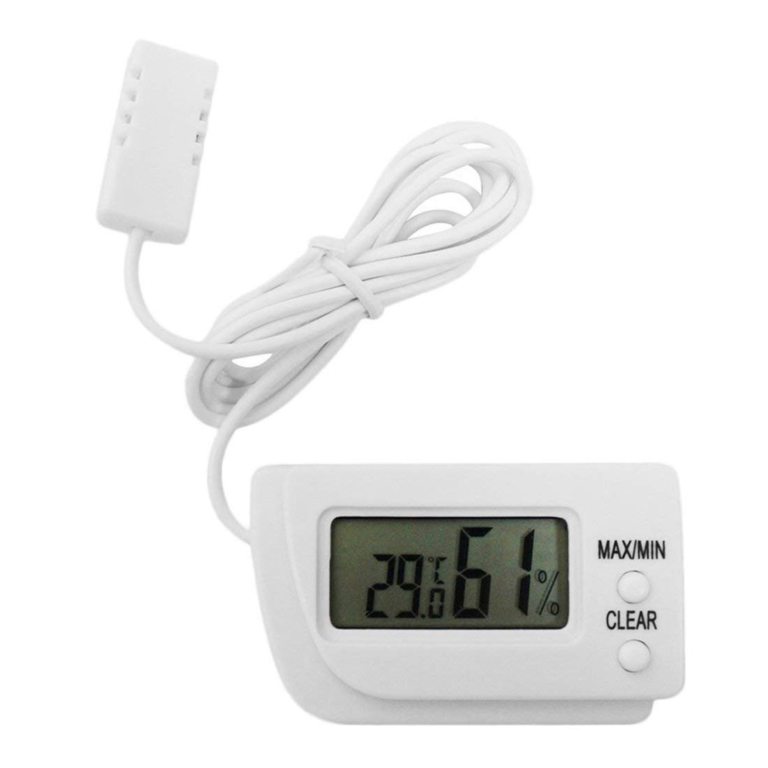 Mini term/ómetro LCD digital profesional higr/ómetro medidor de temperatura de humedad Sensor de pantalla LCD digital interior blanco Togames