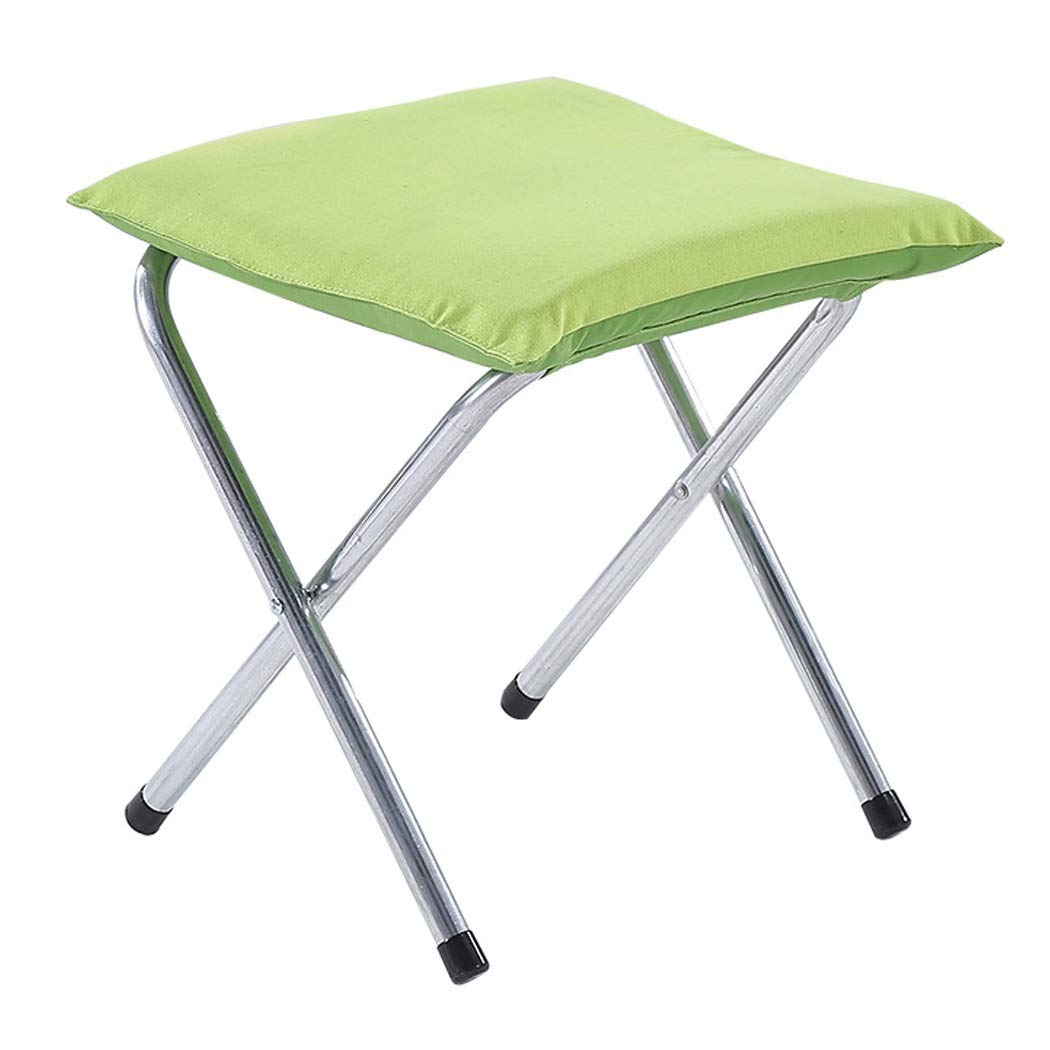 Folding Chair Portable Folding Stool Thickening Chair Adult Outdoor Small Bench for Shoes Bench (Color : Green, Size : 444444cm)