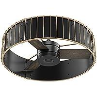 Hunter 59254 30 Vault Ceiling Fan with Handheld Remote, Small, Matte Black/Modern Brass