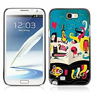 Designer Depo Hard Protection Case for Samsung Galaxy Note 2 N7100 / Abstract Alien