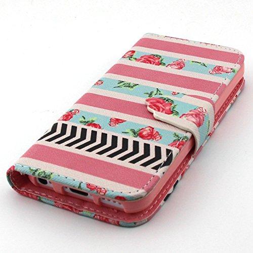 UBMSA-iPhone 5c-Etui à rabat Folio Stand up Porte-cartes en cuir avec rabat Fermeture magnétique, fonction nouvellement de préhension Soft Coque de protection en TPU avec support, protection intégrale