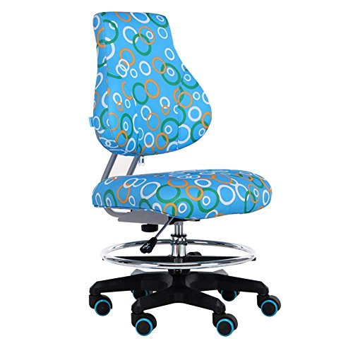 (QTQZ Brisk- Kids Learning Chair Can Lift The Writing Seat Home Study Computer Chair Backless Students Desks and Chairs Can Be Rotated 360 Degree Sofa Stool (Color Optional) (Color: 2))