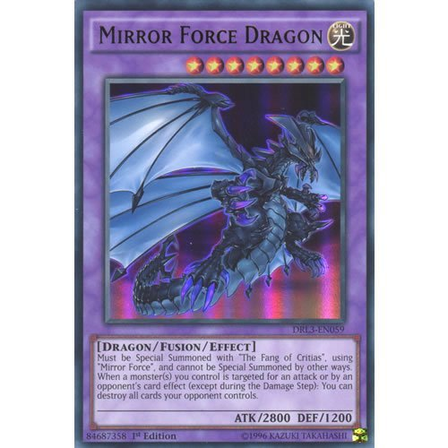 YuGiOh : DRL3-EN059 1st Ed Mirror Force Dragon Ultra Rare Card - (Force Yu Gi Oh Card)