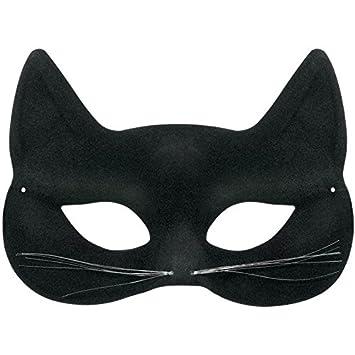 Negro Tela de pana máscara de gato