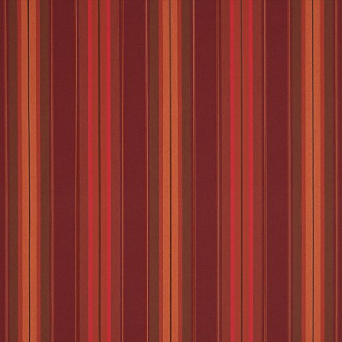 (Sunbrella 46in Awning Stripe Premium 4885-0000 Saxon Chili Fabric by The Yard )