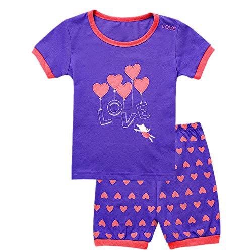 Tkala Fashion Girls Pajamas Children Clothes Set 100% Cotton Little Kids Pjs Sleepwear (12month, 5-Pajamas) -