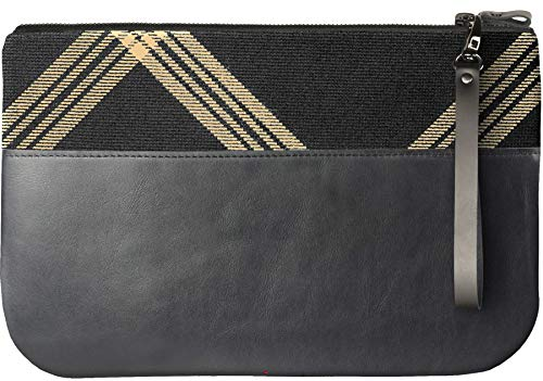Celtic Medium Bag Enough with Large to Tartan Fit an Black Clutch iPad Leather FwqwgBRI