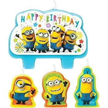 Amazon.com: Minions torta de cumpleaños velas – 6 PC ...