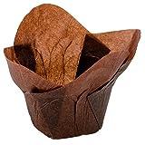 Hoffmaster 611114 2'' x 2 3/4'' Chocolate Brown Lotus Baking Cups - 250/Pack