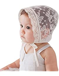 Baby Girls Princess Hat Beanie Lace Gauze Cap Flanging Sun Hat