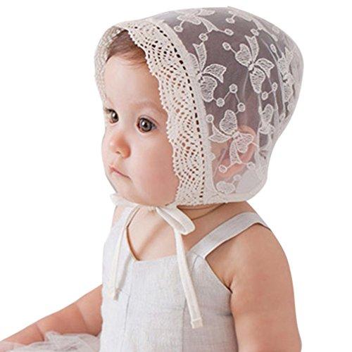 AMA(TM) Baby Girls Princess Hat Beanie Lace Gauze Cap Flanging Sun Hat