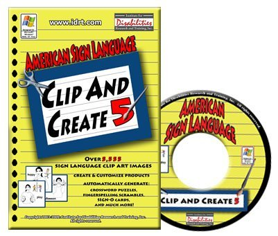 ASL Clip & Create 5 - American Sign Language Clip Art with Over 5,555 Sign Pictures
