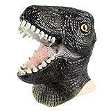 Black Utahraptor Dinosaur Full Face Deluxe Latex Mask