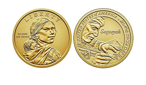 Sacagawea Dollars Graded as Brilliant Uncirculated 2017 US P and D Mints
