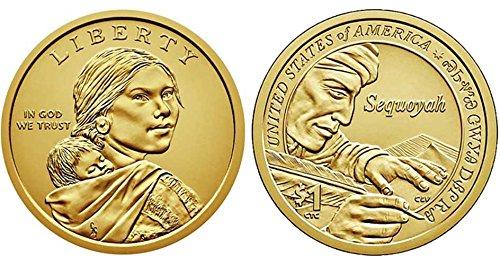 2017 P, D Native American (Sacagawea/Golden) Dollar 2 Coin Set Uncirculated