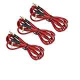 Koffmon 3PACK 3.5mm 800 AUX Cable Cord for Dr Dre Headphones Monster Solo Beats Studio 1.2m(Red)