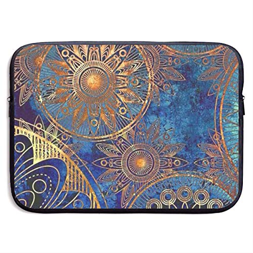 - Laptop Sleeve MacBook 13 Inch 15 Inch Tablet Carrying Case Cover Ethnic Mystic Asian Mandala Psychedelic Neoprene Compatible Notebook Computer Bag