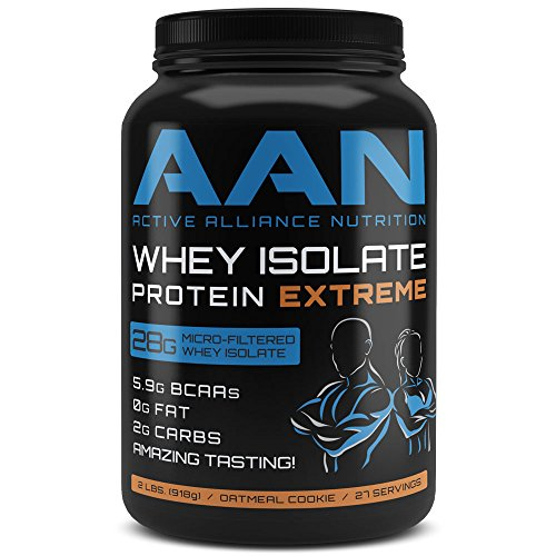 28g Whey Protein Isolate Per Scoop! Fat Free, Low Carb, Pre Workout/Post Workout Meal Replacement Drink (2lbs Oatmeal Cookie) (Oatmeal Cookie Body)
