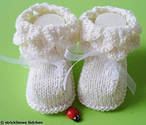 Babyschuhe Taufschuhe Gestrickt Und Gehäkelt Amazonde Handmade