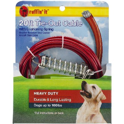 Westminster Pet Products Heavy Duty Cable Tie Out W/Cushioning Spring 20ft by Westminster Pet Products