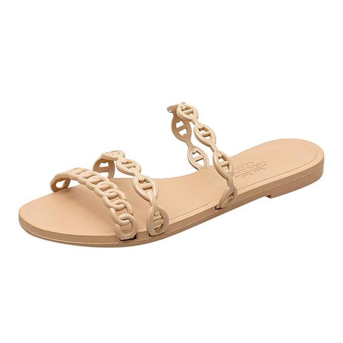 Romanas Sandalias De Zapatillas Playa Sólido Mujer zarlle Color ny80wvmNO
