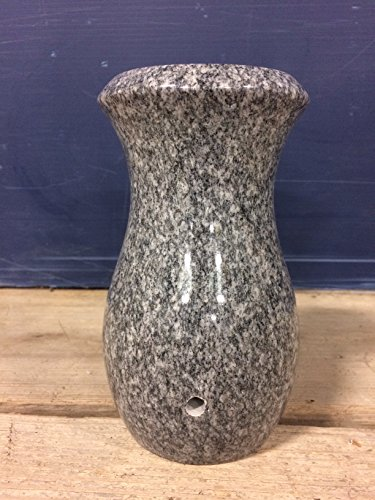 - Granite Polished Memorial Cemetery Monument Vase Style-d (Barra Gray)