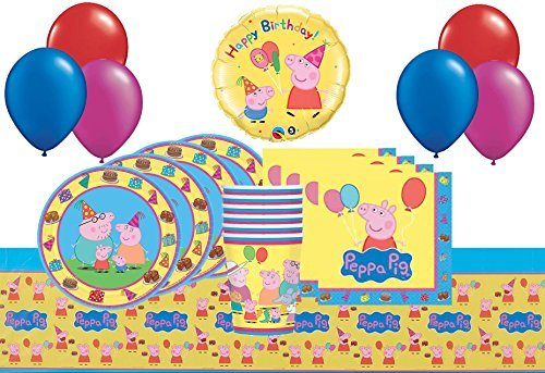 Peppa Pig High-Class Birthday Party and Decoration Balloons Pack for 8 Guests (40 Pcs)