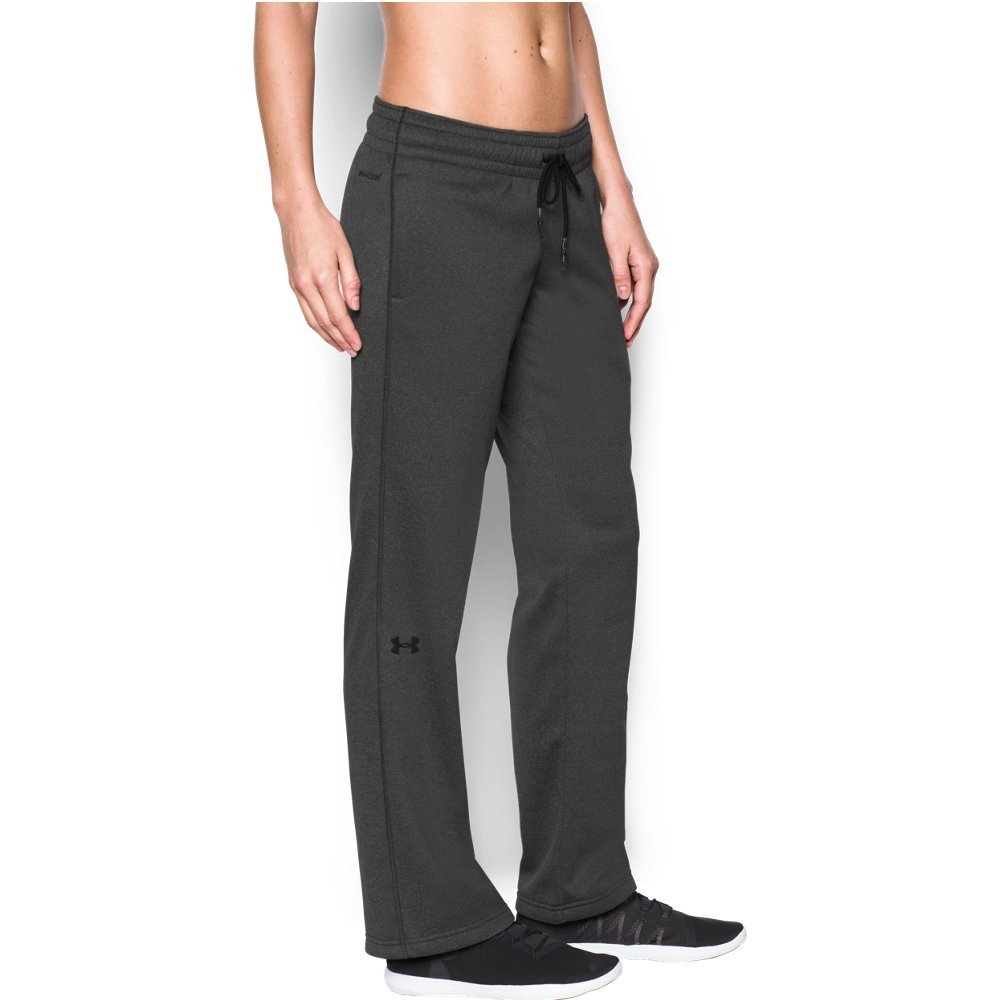 Under Armour Women's Storm Armour Fleece Lightweight Pant, Carbon Heather/Black, Medium