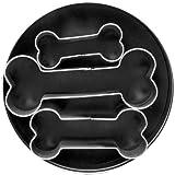 Fox Run Brands Dog Bone 3 Piece Cookie Cutter Set