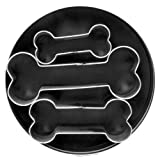 Fox Run 3683 Dog Bone Cookie Cutter Set, Stainless Steel, 3-Piece