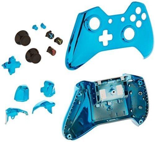 Game Bully Xbox One Controller Full Housing Shell - Chrome Blue ()