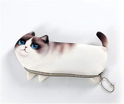 Longzhuo - Estuche creativo para lápices, diseño de gato, versión coreana, para niños y niñas, color Marionette Katze: Amazon.es: Oficina y papelería