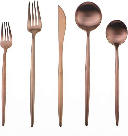 18//10 Stainless Steel Silverware Set Flatware Set Rose Gold Fork Spoon Cutlery